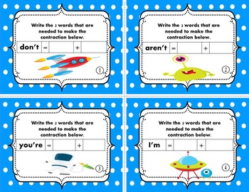 Contractions Double Feature Value Pack {Task Cards}