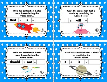 Contractions - Episode 1 {Task Cards}