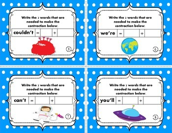 Contractions - Episode 2 {Task Cards}