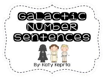 Galactic Number Sentences QR Scoot