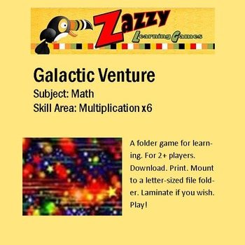 Galactic Venture File Folder Game Multiplication x6