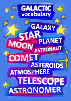 Galactic Vocabulary POSTER A3