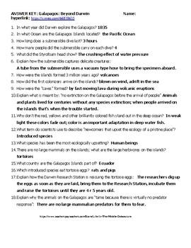 Darwin Galapagos Beyond Darwin Hyperlink 48 Min And Worksheet