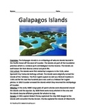 Galapagos Islands - Full History Facts Information Questions Vocab Lesson
