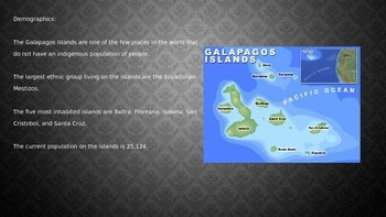 Galapagos  Islands - Power Point - History Information Facts Wildlife