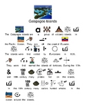 Galapagos Islands - picture supported text lesson visuals questions