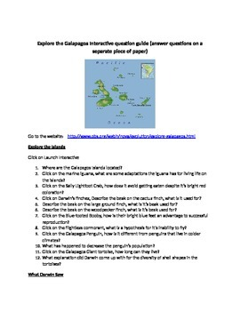 Galapagos Question Guide