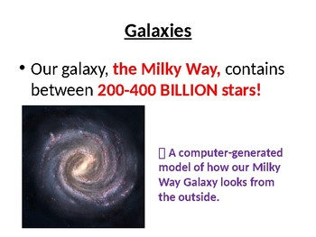 Galaxies Mini-Lesson