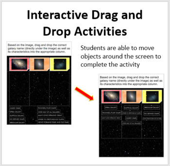 Galaxies, Other Objects, and the Universe - Digital Interactive Notebook Pages