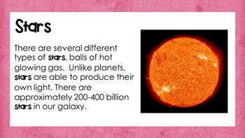 Space: Galaxies, Planets, and Stars PowerPoint
