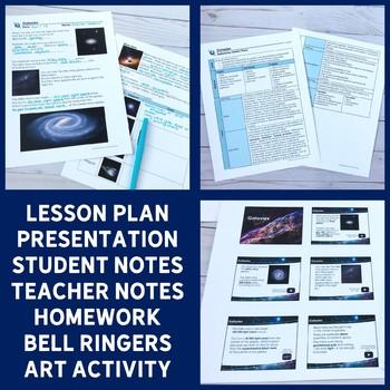 Galaxies: PowerPoint & Note - EDITABLE!