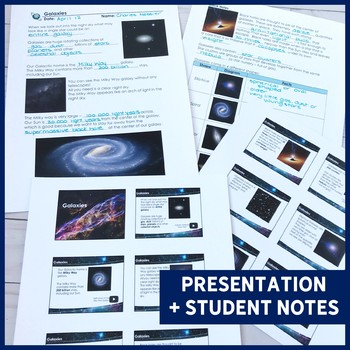 Galaxies: PowerPoint & Note - EDITABLE!