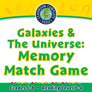 Galaxies & The Universe: Memory Match Game - NOTEBOOK Gr. 5-8