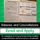 Galaxies and Constellations Reading Comprehension Interactive Notebook