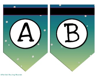 Galaxy Bulletin Board Letters: Bunting/Pennet Style