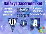Galaxy Classroom Decor: Alphabet, Calendar, Numbers, Labels, Word Wall, Schedule