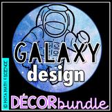 Galaxy Classroom Decor Space Theme - Editable Growing Bundle