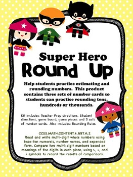 Super Hero Rounding Math Game