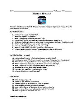 Galaxy Explore with iPad app