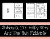 Galaxies, The Milky Way, and The Sun Foldable (Interactive