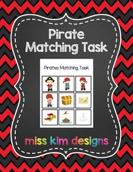 Pirate Matching Folder Game for Early Childhood Special Education