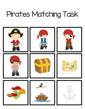 Folder Game: Pirate Matching for Students with Autism & Special Needs
