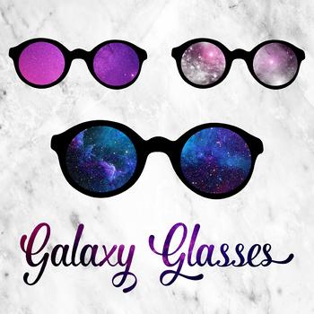 Galaxy Glasses Clipart, Glasses Images, Cosmic Sunglasses