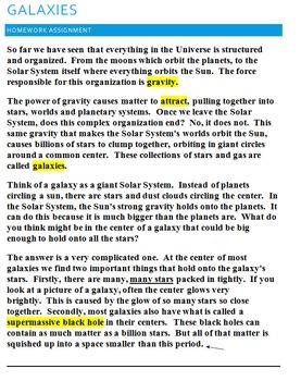 Galaxy Homework/Practice