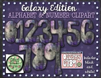 Galaxy Letter Clip-Art Set