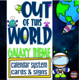 Galaxy - Outer Space Themed Calendar System Cards and Signs