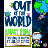 Galaxy - Outer Space Themed Daily Reading and Math Rotatio
