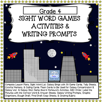 Sight Word Games Activities & Writing Prompts for Grade 4 with Full Lesson Plans