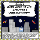 Sight Word Games Activities & Writing Prompts for Grade 4
