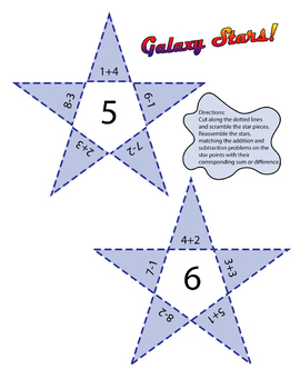 Galaxy Stars! Addition and Subtraction Game