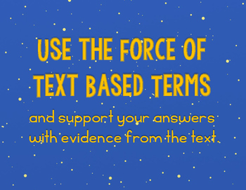 Star Wars Evidence Based Terms Poster Set and Classroom Decor