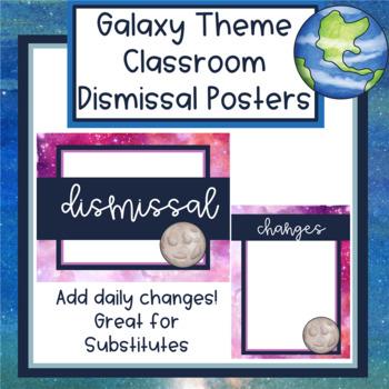 Galaxy Theme Dismissal Posters - Editable