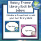 Galaxy Theme Library Book Bin Labels - Editable