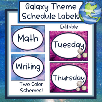 Galaxy Theme Schedule Labels - Editable