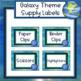 Galaxy Theme Supply Labels - Editable