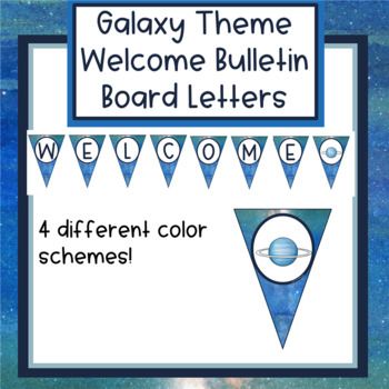 Galaxy Theme Welcome Banners