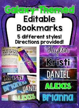 Galaxy Themed Bookmarks