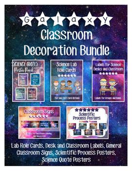 Galaxy Themed Classroom Decoration Bundle