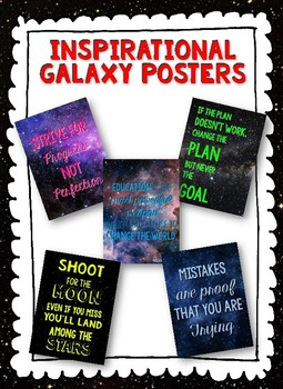 Galaxy Themed Inspirational Posters
