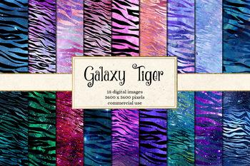 Galaxy Tiger Stripes Digital Paper