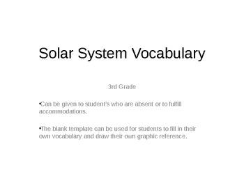 Galaxy Vocabulary Flash Cards