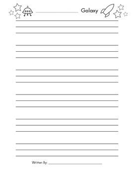 Galaxy Writing Paper