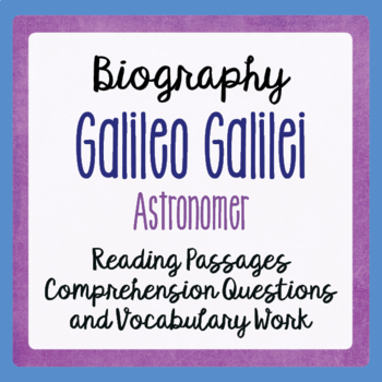 Galileo An Introduction Four Illustrated Passages, Activities