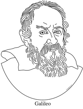 Galileo Clip Art, Coloring Page, or Mini-Poster