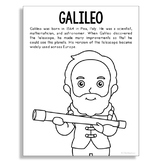 GALILEO Coloring Page Craft or Poster, STEM Technology History