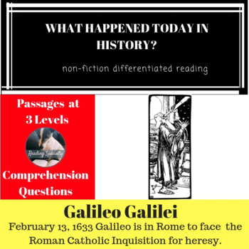 Galileo Differentiated Reading Passage Feb 13